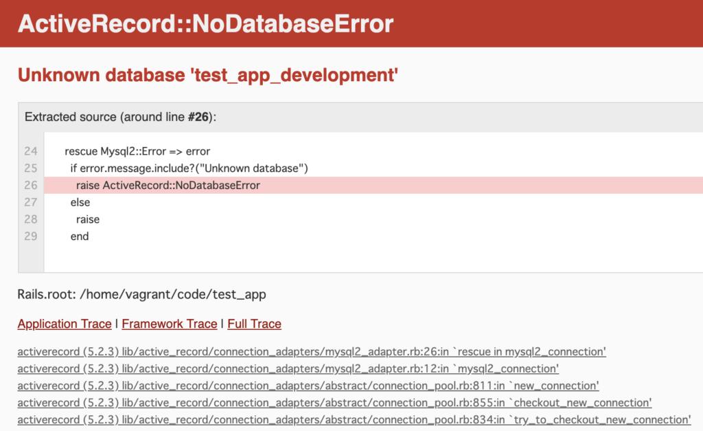 ActiveRecord::NoDatabaseError Unknown database 'test_app_development'